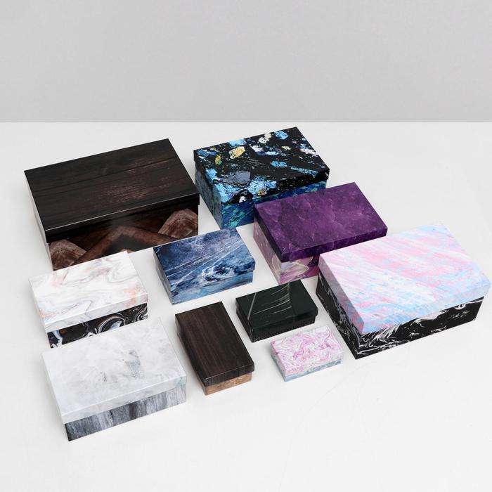 Набор коробок 10 в 1 'Текстуры-2', 30,5 х 20 х 13 - 12 х 6,5 х 4 см - фото 5