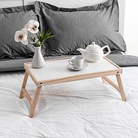 Столик для завтрака 'Ренессанс', 50 х 30 см, массив ясеня, цвет некрашеный