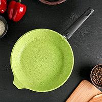 Сковорода, d26 см Trendy style, съёмная ручка, антипригарное покрытие, цвет лайм