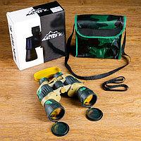 Бинокль 7х50, Мастер К, зелёный камуфляж, линзы рубин