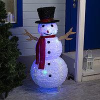 Фигура текстиль 'Снеговик' 120х50х50 см, 100 LED, 220V, контр. 8 режимов, МУЛЬТИ