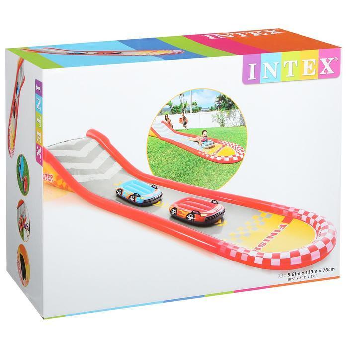 Надувная гоночная трасса, 561 х 119 х 76 см, с 2-мя машинами, 100 кг, от 6 лет, 57167NP INTEX - фото 3
