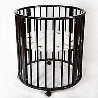 Кровать-трансформер 'Лёвушка' 7 в1, венге, круглая / овальная