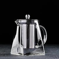 Чайник заварочный Magistro 'Дарси', 720 мл, 15,5x9,5x14 см, с металлическим ситом