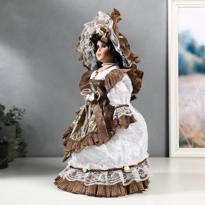 Кукла коллекционная керамика 'Леди Кларис в платье цвета мокко' 40 см - фото 2
