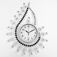 Часы настенные, серия Ажур, 'Капля с завитками', плавный ход, 69 х 50 см, d21 см