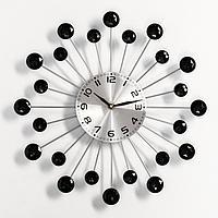 Часы настенные, серия Ажур, 'Лучики', плавный ход, 34 х 34 см, d циферблата12 см