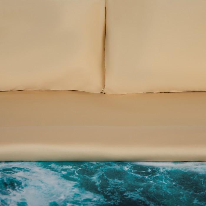 Постельное бельё 'Этель' евро Морская волна 200х217 см, 260*240 см, 50х70 см - 2 шт - фото 2