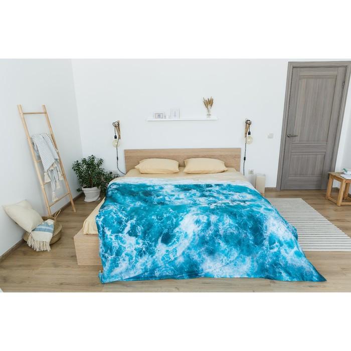Постельное бельё 'Этель' евро Морская волна 200х217 см, 260*240 см, 50х70 см - 2 шт - фото 6
