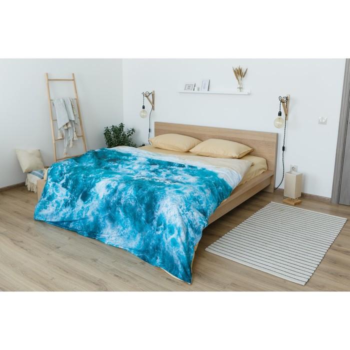 Постельное бельё 'Этель' евро Морская волна 200х217 см, 260*240 см, 50х70 см - 2 шт - фото 8