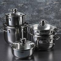 Набор посуды 'Классика-прима', 5 предметов 4 кастрюли 1/1,75/3/5 л, сковорода 1 л, капсульное дно