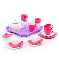 Набор детской посуды 'Алиса', с подносом на 4 персоны, 35 элементов