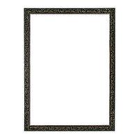 Рама для картин (зеркал) 60 х 80 х 4 см, дерево, 'Версаль', цвет чёрный с золотом