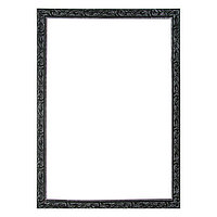 Рама для картин (зеркал) 60 х 80 х 4 см, дерево, 'Версаль', цвет чёрный с серебром