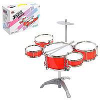 Барабанная установка 'Джаз', 5 барабанов, тарелка, палочки
