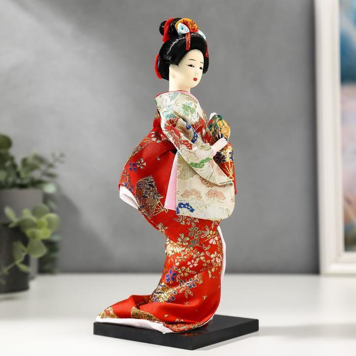 Кукла коллекционная 'Гейша с веером' 27х12,5х12,5 см - фото 2