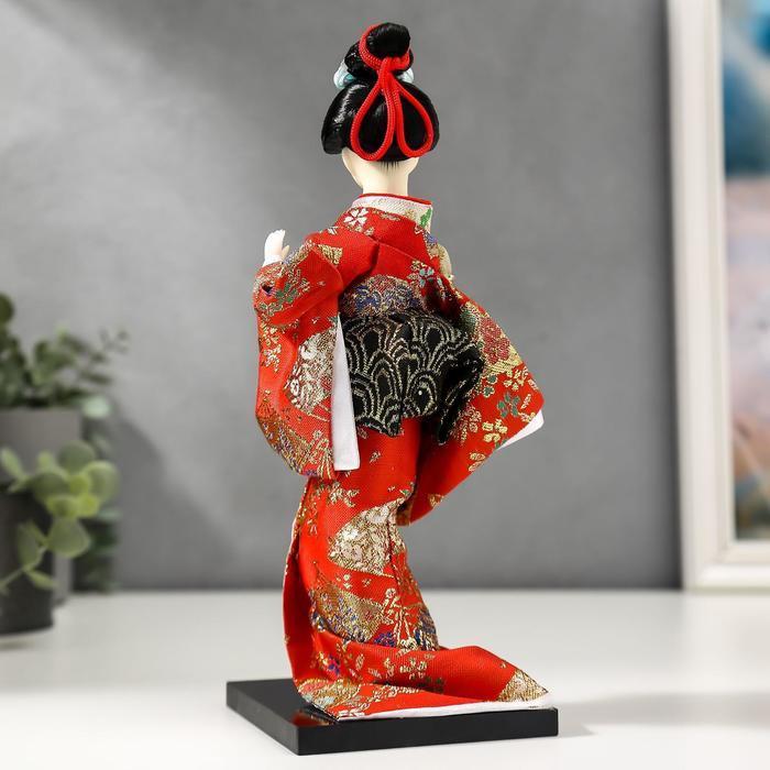 Кукла коллекционная 'Гейша с веером' 27х12,5х12,5 см - фото 4