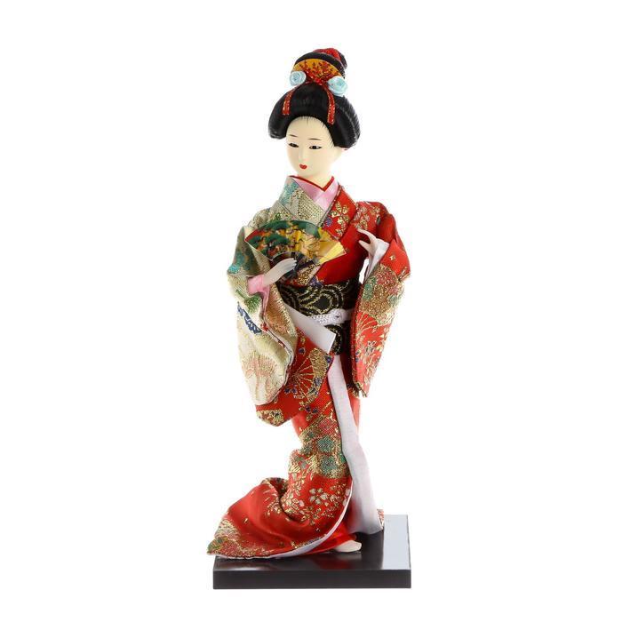 Кукла коллекционная 'Гейша с веером' 27х12,5х12,5 см - фото 6
