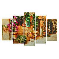 Картина модульная на подрамнике 'Цветочный декор' 2-25х52, 2-25х66,5, 1-25х80, 80*140 см