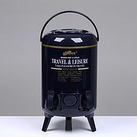 Термос 'Гейзер' 9.5 л, 2 стакана, 2 крана, держит тепло 12 ч микс