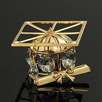 Сувенир 'Шапка магистра', 5x5x3,5 см, с кристаллами Сваровски