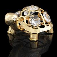 Сувенир 'Черепаха', 6x5x4 см, с кристаллами Сваровски