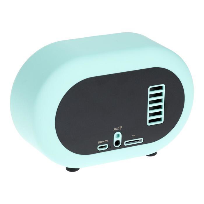 Портативная колонка Hiper RETRO S, BT, 5 Вт, Micro-USB/AUX, 1800 мАч, бирюзовая - фото 3