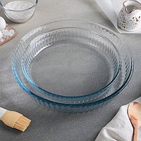 Набор круглой посуды для запекания, 2 предмета 1,6 л, 2,6 л