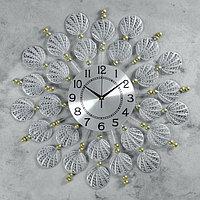 Часы настенные, серия Ажур, 'Ракушки', d59 см