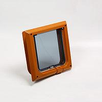 Дверца для животных 'БАРСИК', проём 145*145 мм, толщина двери 36-42 мм, миланский орех