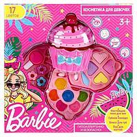 Косметика для девочек 'Барби', тени, блеск для губ, помады, заколки