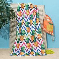 Полотенце пляжное в сумке Этель 'Ананасы', 70*140 см, микрофибра, 100 п/э