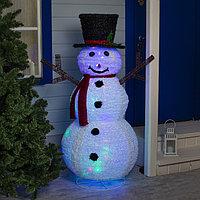 Фигура текстиль 'Снеговик' 150х80х80 см, 100 LED, 220V, контр. 8 режимов, МУЛЬТИ