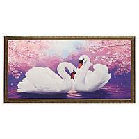 Гобеленовая картина 'Лебеди' 63*123 см рамка МИКС