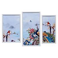 Картина модульная 'Птицы у моря' 25*40, 25*49, 19*40, 50х70 см