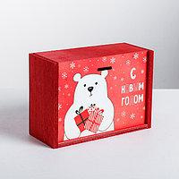 Ящик подарочный деревянный 'Новогодний подарок', 20 x 14 x 8 см