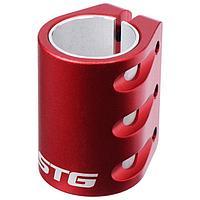 Зажим с проставкой для трюкового самоката на 3 болта для компрессии HIC, цвет красный