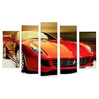 Модульная картина 'Красная машина' (2-23х52 2-24х70 1-24х80) 120х80см