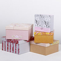 Набор подарочных коробок 5 в 1 'Нежные узоры', 14 x 14 x 822 x 22 x 12 см