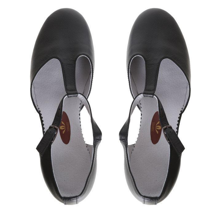 Туфли репетиторские женские, длина по стельке 24 см, цвет чёрный - фото 3