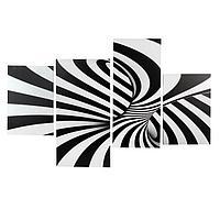 Картина модульная на подрамнике 'Абстракция' 2-30х45,1-30х69,1-34х69 80*130 см