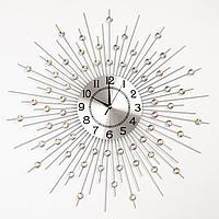 Часы настенные, серия Ажур, 'Рудна', плавный ход, 69 х 69 см, d циферблата22 см