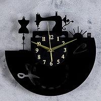 Часы настенные, серия Интерьер, 'Покрой', круглые, акриловые, 30х30 см