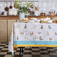 Скатерть 'Этель' Chicken Ranch 220х147 см, 100 хлопок, репс 210 г/м2