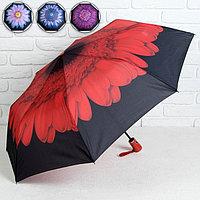 Зонт полуавтоматический 'Цветы', 3 сложения, 8 спиц, R 48 см, цвет МИКС