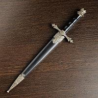 Сув. оружие кортик, чёрный на рукоятке бронзовая отделка 34см