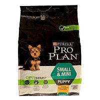 Сухой корм PRO PLAN для щенков мелких пород, курица/рис, 3 кг