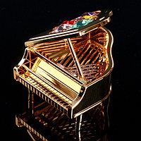 Сувенир с кристаллами Swarovski 'Рояль' 7,1х6,8 см