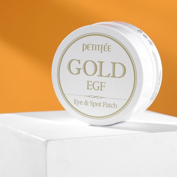Патчи для глаз Gold EGF Eye Spot Petitfee, с золотыми частицами и фактором роста EGF, 60 шт. - фото 1