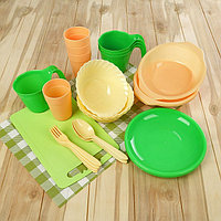 Набор посуды на 4 персоны 'Дружная семья', 30 предметов